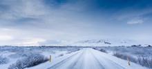 Deep Snow Covered Road And Lan...