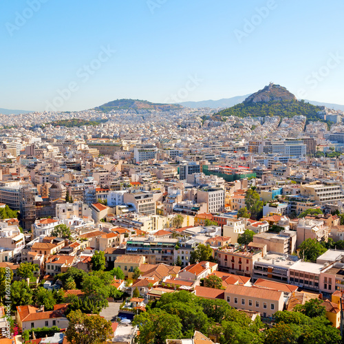 Fotobehang Athene new architecture in the old europe greece and congestion of houses