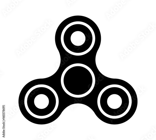 Fotografie, Obraz Fidget spinner toy for stress relief flat vector icon for apps and websites