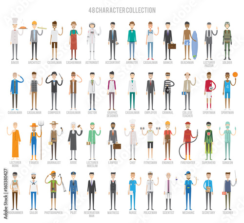 Fotomural  Characters Set