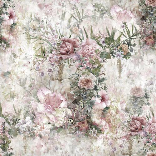 lisc-i-kwiaty-vintage-akwarela