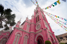 Tan Dinh Church - The Pink Cat...