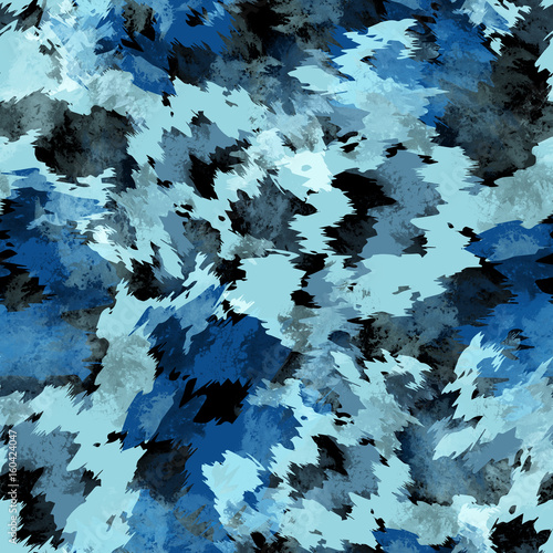 Cotton fabric Seamless pattern tie-dye design. Indigo background with watercolor effect. Textile shibori print for bed linen, jacket, package design, fabric and fashion concepts.
