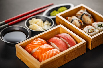 Fototapeta Sushi Sushi set, sushi rolls