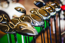 A Shiny Metal Golf Clubs For S...