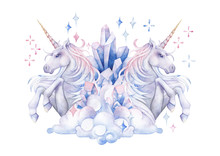 Cute Watercolor Unicorn