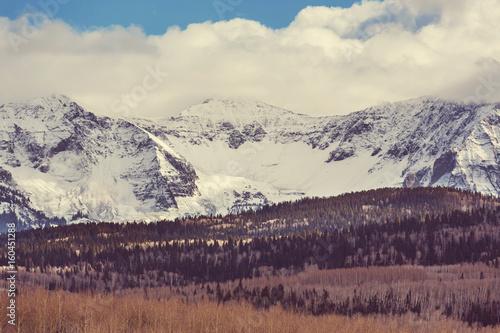 Deurstickers Art Studio Colorado mountains