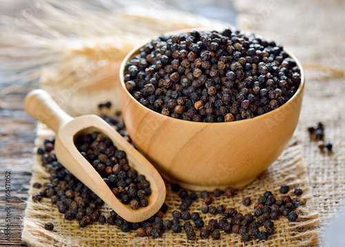 black pepper on table Wallpaper Mural