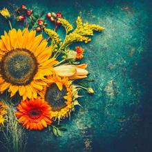 Autumn Flowers Arrangements Ma...