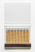 Closeup Of Matchbook, Isolated On White