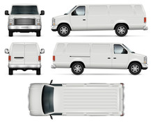 Panel Van Vector Template For ...