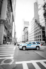 Fast NYPD SUV Driving Through ...