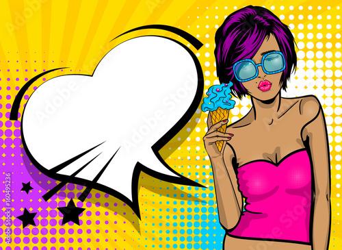 kreskowka-plakatu-rocznika-kolorowe-biale-okulary-dziewczyny