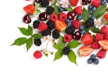 Various Summer Berries And Fru...