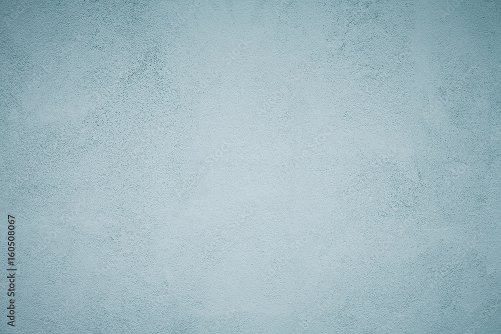 Fototapety, obrazy: Grunge Decorative Faded Blue Plaster Background