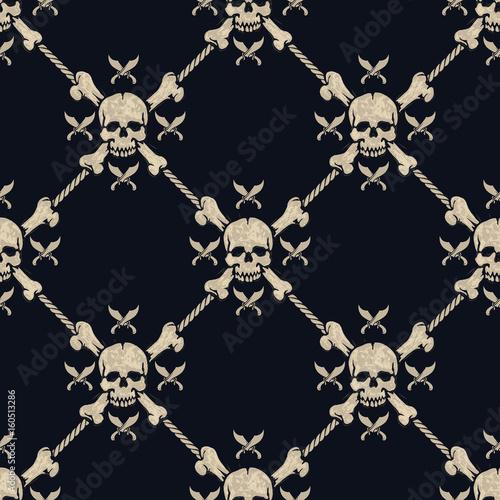 bezszwowe-pirackie-czaszki-wzor