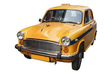 Isolated Yellow Vintage Taxi I...