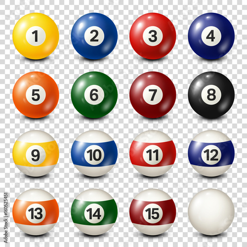 Billiard,pool balls collection Fototapeta