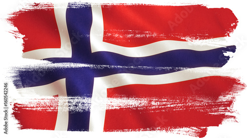 Photo Norway Flag Waving - Germany Background
