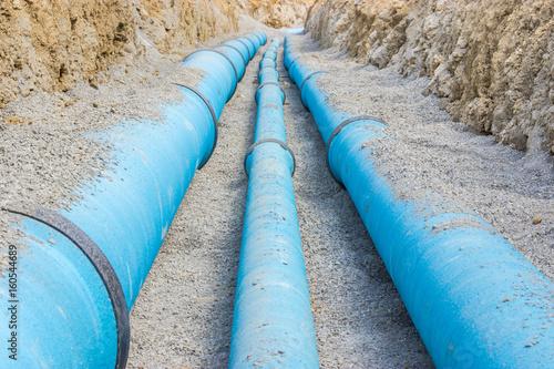 Stampa su Tela Baustelle für eine neue Wasserleitung