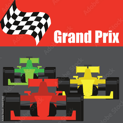 Foto op Plexiglas F1 formula one / grand prix racing poster. vector illustration