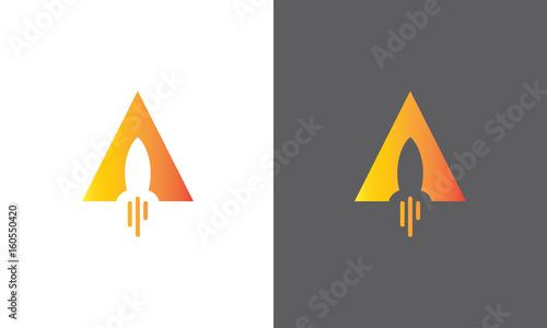 Fotomural triangle rocket logo