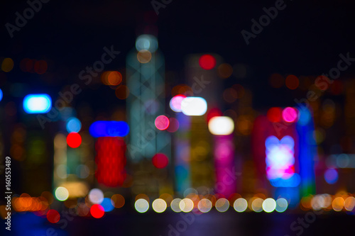Foto auf Leinwand Hongkong City lights