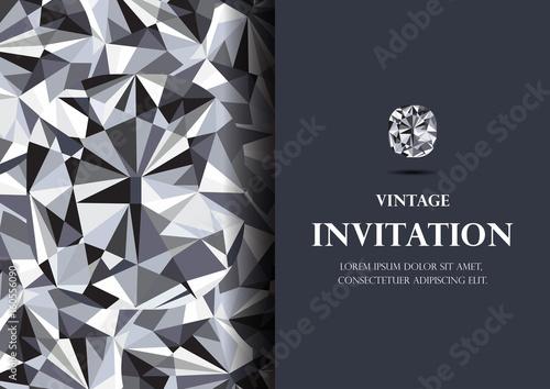 invitation card diamond background vector - Buy this stock vector