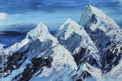 Beautiful oil painting, closeup