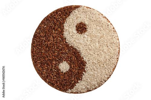 Plakat Biały i brązowy ryż