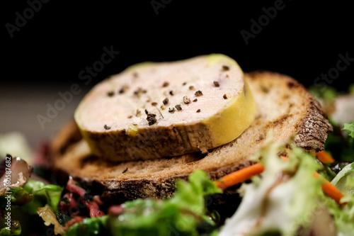 foie gras, salade