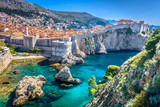 Fototapeta Room - Dubrovnik landscape. / Aerial view at famous european travel destination in Croatia, Dubrovnik old town.