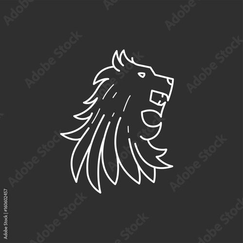 Lion head icon Wallpaper Mural