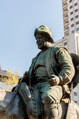 Fototapeta na wymiar Sancho panza plaza de españa de madrid
