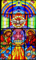 Naklejka Vidriera de la catedral de la almudena