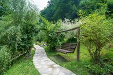 Garden Swing Wooden Bench