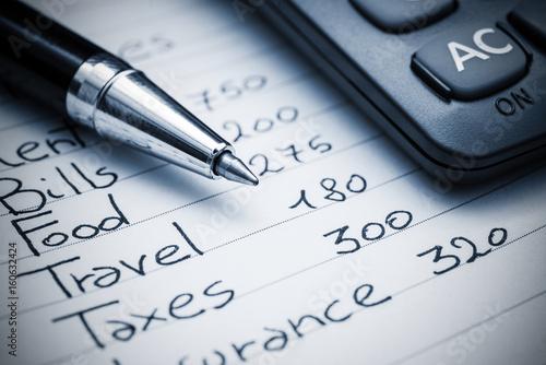 Fototapeta Household expenses concept