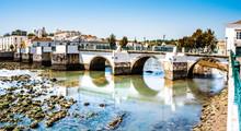 Historische Brücke In Tavira, Algarve, Portugal, Europa