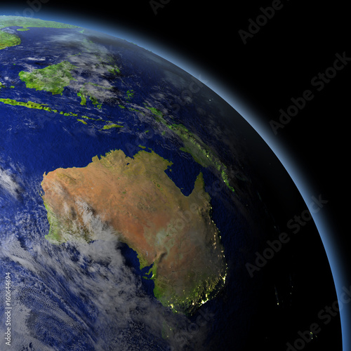 Australia from space Canvas Print