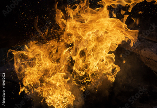 Fotografie, Obraz  Fire flames moving