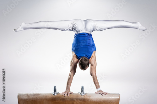 Recess Fitting Gymnastics portrait of young man gymnasts
