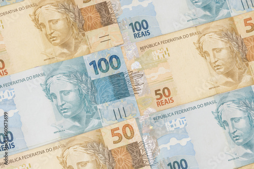 Fotografie, Tablou  Brazilian money background