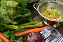 Savoy Cabbage And Soup Vegetables