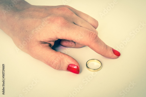 Which Hand Wedding Ring Female.Female Hand With Wedding Ring Divorce Concept Buy This Stock