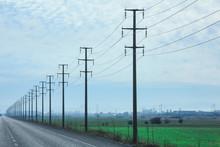 Power Poles Symmetric Background