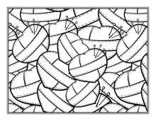 Stitched Hearts Decorative Ornamental Coloring Page