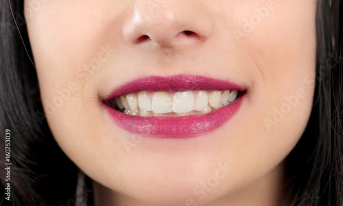 beautiful smile on woman close up #160753039