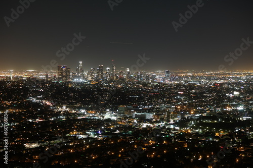 Plakat Los Angeles nocą
