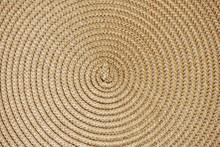 Round Woven Straw Background W...