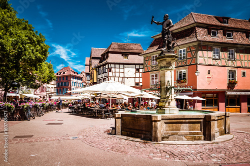 Fototapeta Beautiful town of Colmar in Alsace province of France on a summer sunny day obraz